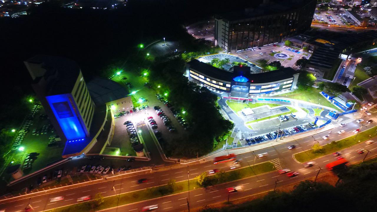 Imagem aérea da nova sede das Promotorias da Capital