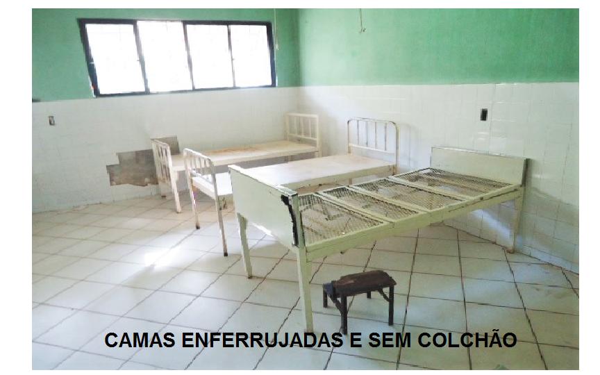 CAMAS ENFERRUJADAS E SEM COLCHÃO