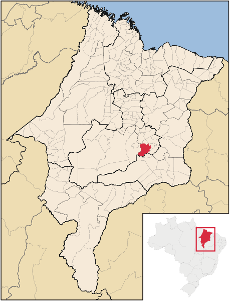 Mapa Sao Domingos do Maranhao