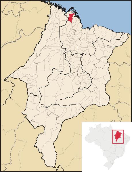 mapa Serrano do Maranhão
