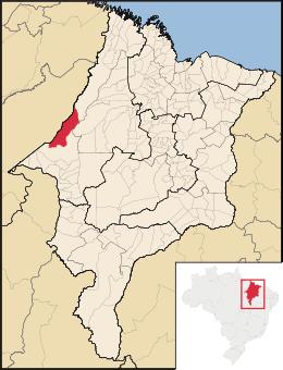 mapa itinga do maranhão