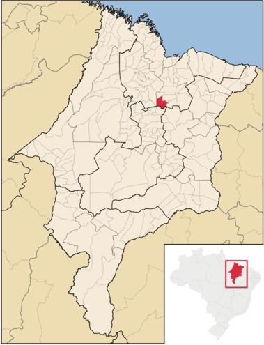 mapa matões do norte