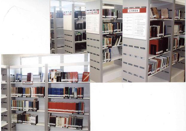 Foto da biblioteca da ESMP